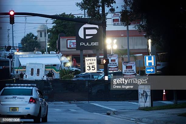 Police and law enforcement officials continued to block off parts of South Orange Avenue near Pulse Nightclub on Monday morning June 13 2016 in...