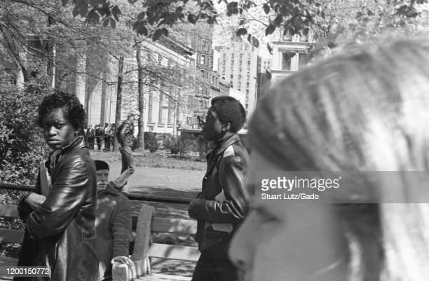 Police and protesters are visible during an anti Vietnam War protest near 14th street in Manhattan New York City New York following the Kent State...