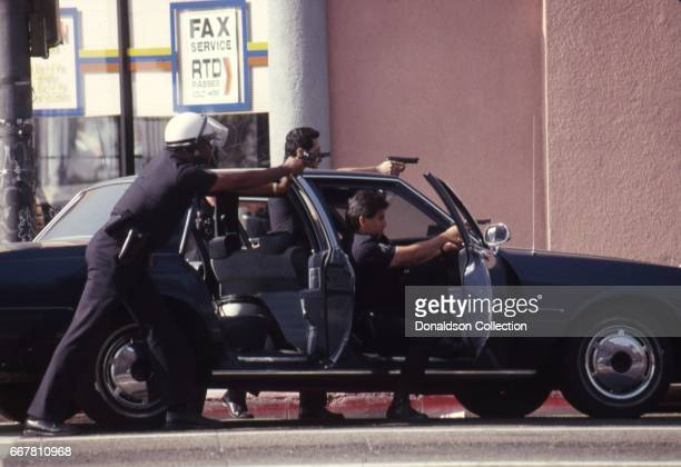Police and rioters clash on Vermont Ave in widespread riots that erupted after the acquittal of 4 LAPD officers in the videotaped arrest and beating...