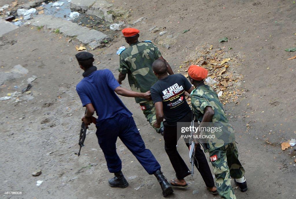 DRCONGO-POLITICS-DEMO-UNREST : News Photo