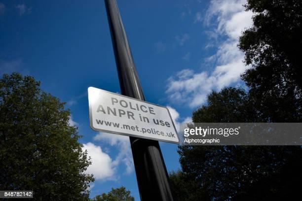 Police ANPR sign