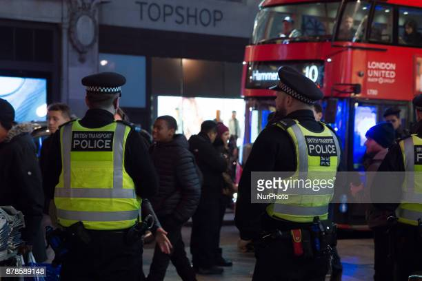 Police are seen at Oxford Circus as they responded to an incident in the Underground Station London on November 24 2017 The station has been closed...