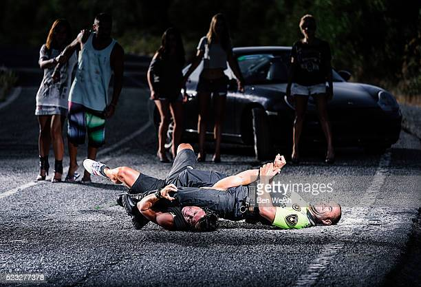 police arrest on street - arrest stock pictures, royalty-free photos & images
