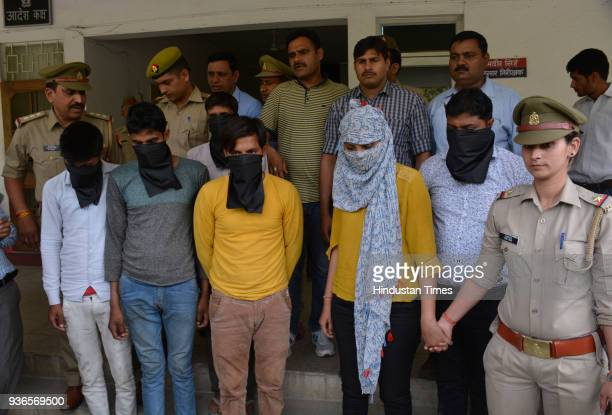 Police arrested five accused including prime accused woman for planning acid attack on 23yearold woman near Mohan Nagar on March 22 2018 in Ghaziabad...