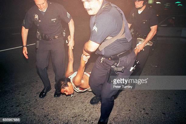Police Arresting Man During LA Riots