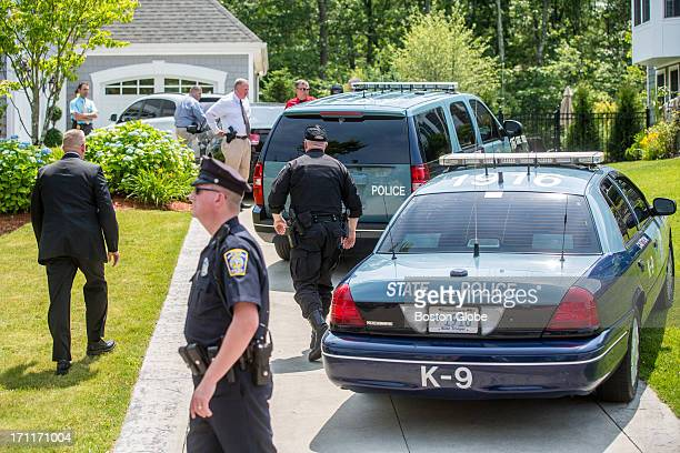Police arrived at the home of Patriots player New England Patriots player Aaron Hernandez in North Attleborough. Hernandez has been linked to the...