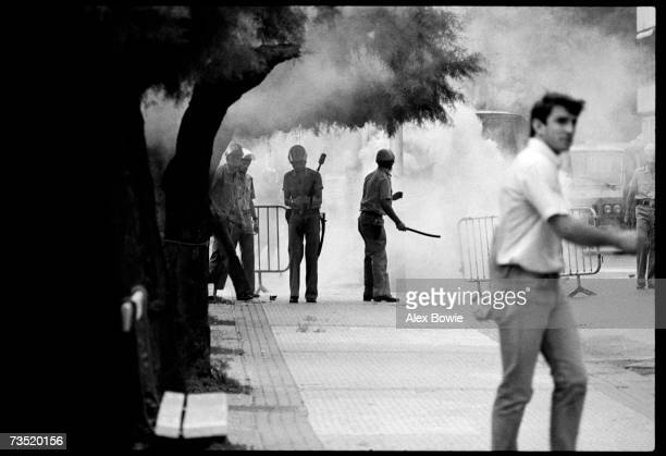 Police at a Basque antigovernment protest in San Sebastian northern Spain 1st September 1979