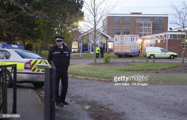 Police at the Birkbeck School in North Somercotes near Louth Where a 14yearold schoolboy died today after he was stabbed during a fight at the...