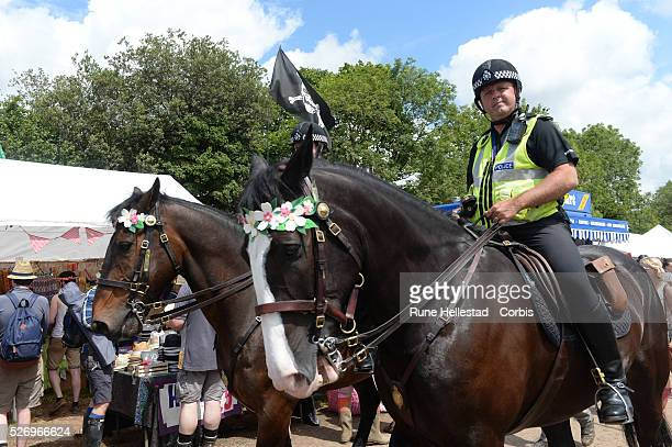 Police at the Glastonbury Festival