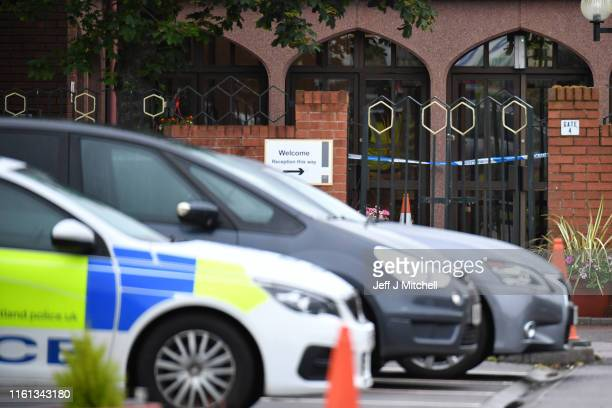 Police attend an incident at Glasgow Central Mosque following the discovery of a body on July 11 2019 in Glasgow Scotland Emergency services were...