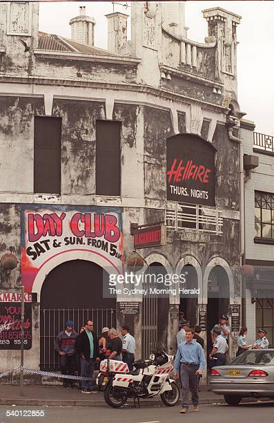 Police attend the scene of a shooting at the Hellfire Club in Regent Street, Chippendale, Sydney, 9 November 1997. SMH Picture by NICK MOIR