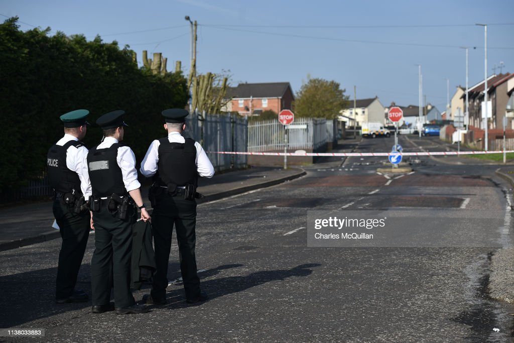 GBR: Aftermath Of Journalist Killing During Rioting In Creggan