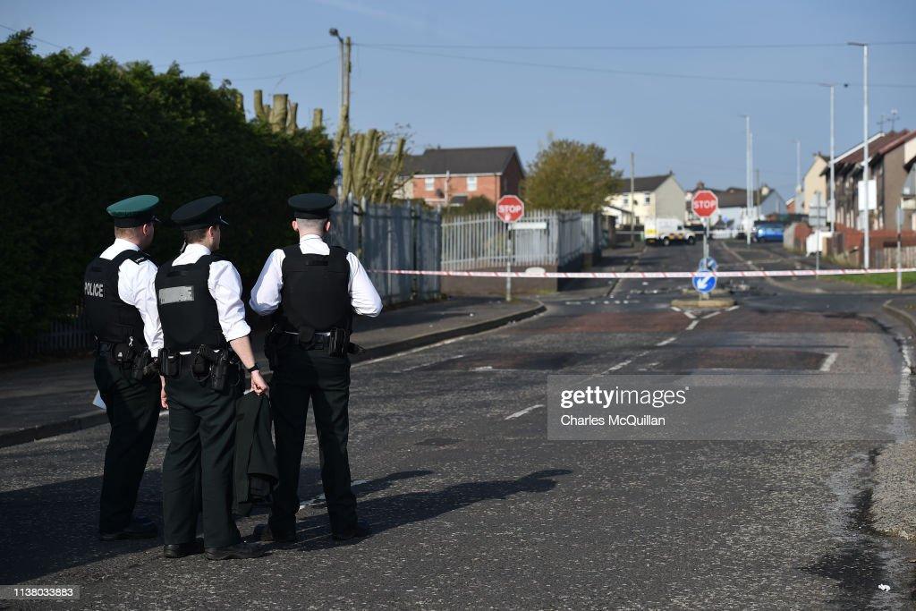 GBR: Aftermath Of Journalist Killing During Rioting In Creggan