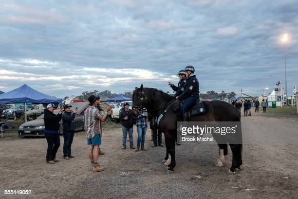 Police attend the 'Ute Paddock' at the 2017 Deni Ute Muster on September 29 2017 in Deniliquin Australia The annual Deniliquin Ute Muster is the...