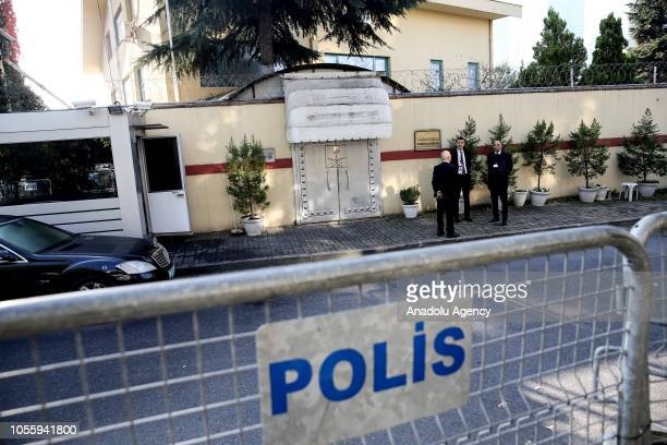 Police barricades are seen in front of the Saudi consulate as the waiting continues on the investigation of killing of Saudi journalist Jamal...