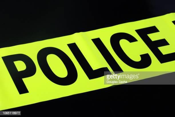 police barrier, crime scene - 検死官 ストックフォトと画像