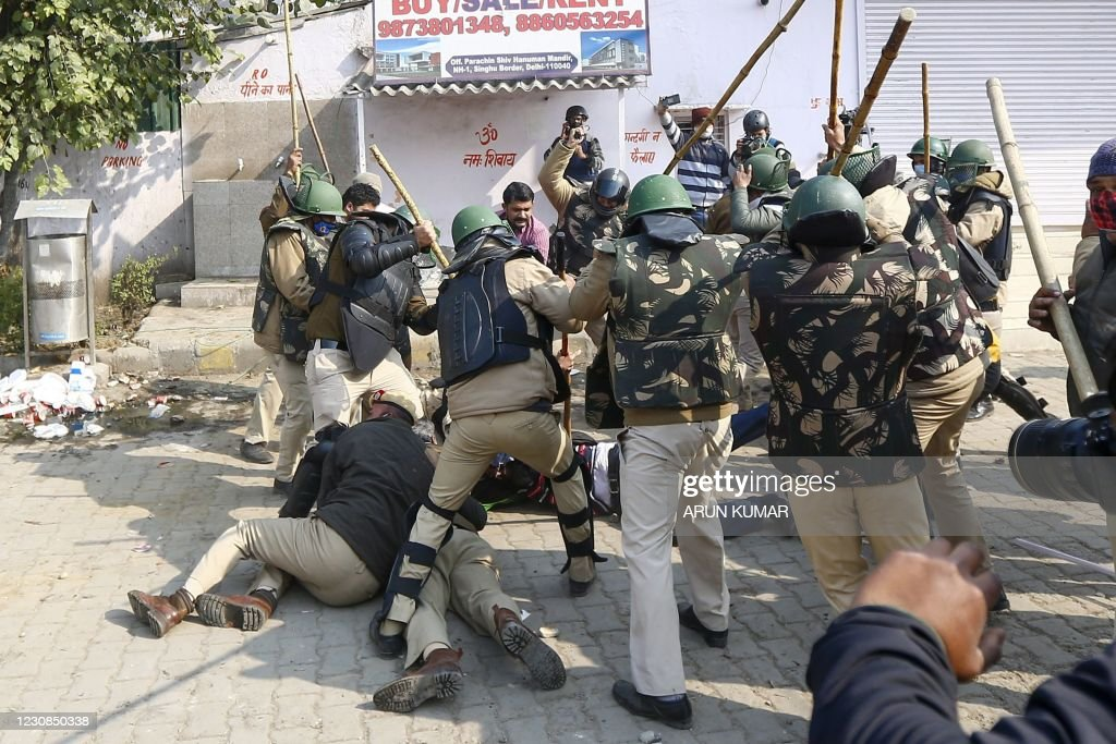 TOPSHOT-INDIA-POLITICS-AGRICULTURE-PROTEST : News Photo