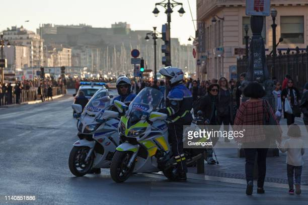 Police bikers in Marseille