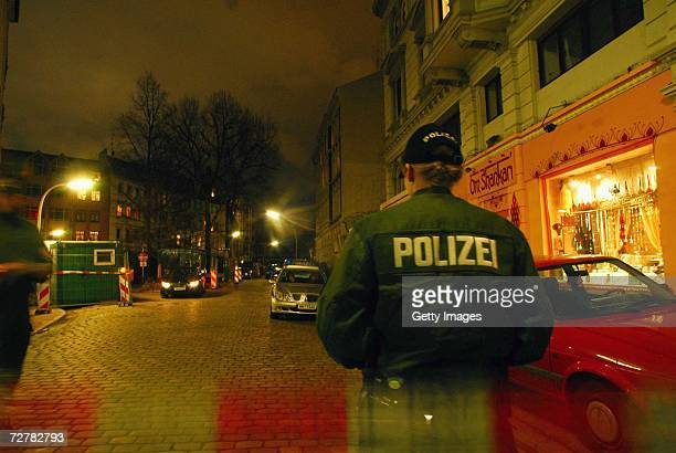 Police block off the street in front of a house in Erzbergerstrasse 4 where russian businessman Dmitry Kovtun who is currently treated for radiation...