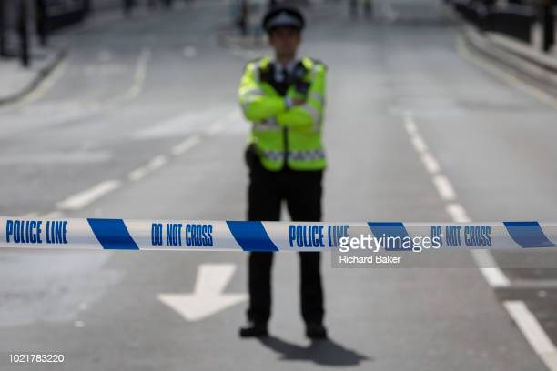 Police block Whitehall as Westminster experiences a lockdown with extensive cordons and the closure of many streets after what police are calling a...