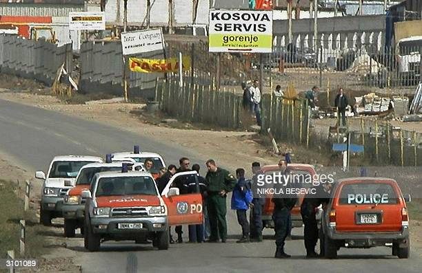 UNMIK police blocked the regional highway PristinaSkopje that passes through the Serbian village Caglavica in order to prevent any possible incidents...