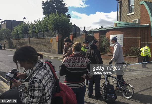 Police blocks the entrances of a road after an explosion at Parsons Green Tube Station in London United Kingdom on September 15 2017