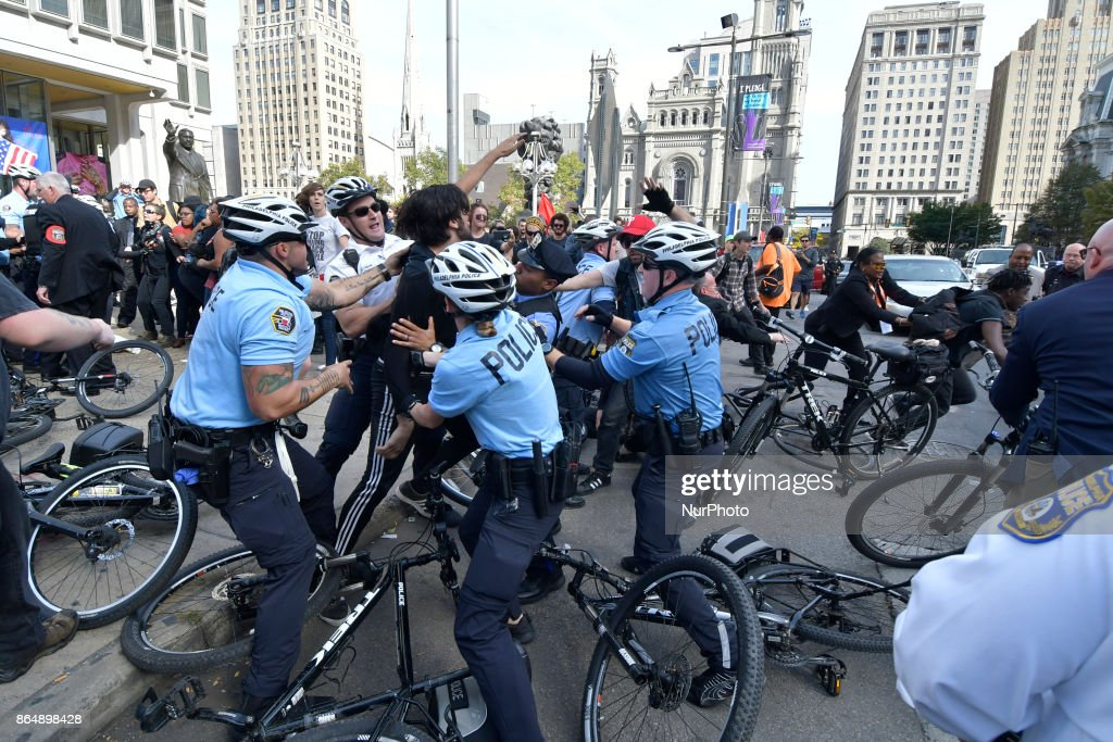 Violent protest outside IACP conference in Philadelphia : News Photo