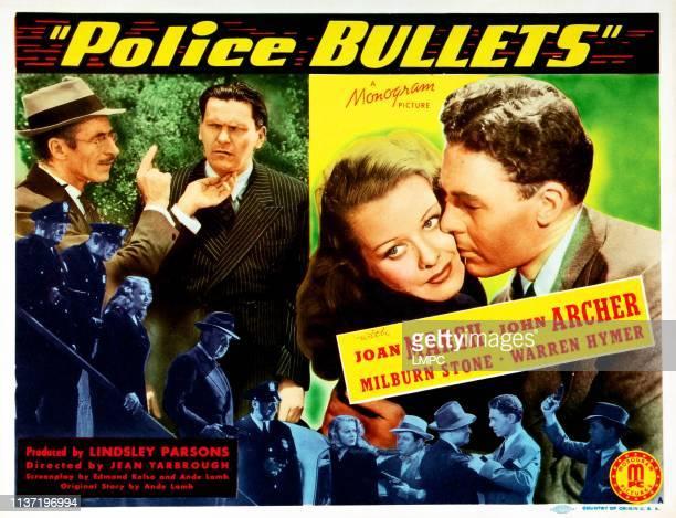 Police Bullets US lobbycard left from second left Warren Hymer Joan Marsh John Archer 1942