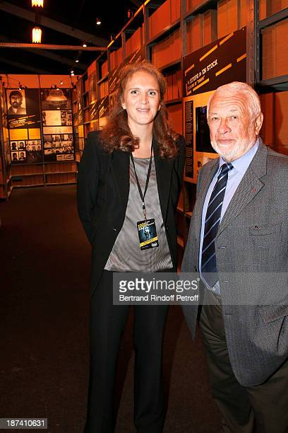Police captain Marie Deniau and former Paris Police chief Robert Broussard pose as they attend the 100th Anniversary Of The Paris Judiciary Police...