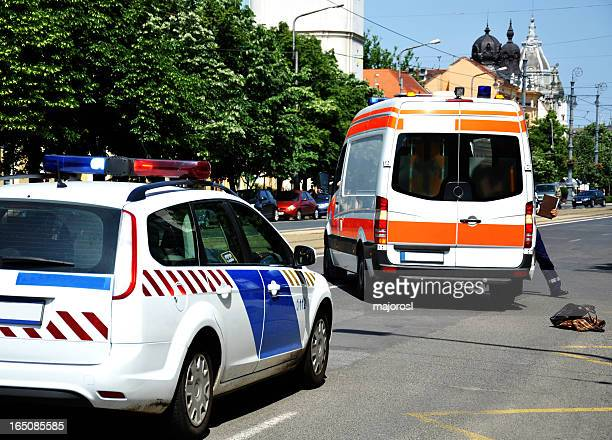 police car and ambulance