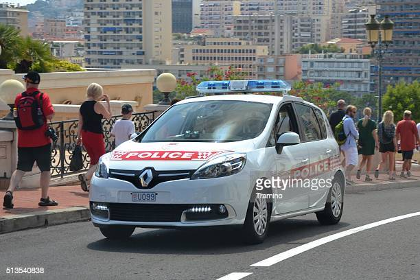 Police car driving on the street in Monte Carlo