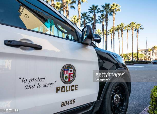 police car in la - los angeles police department stock pictures, royalty-free photos & images