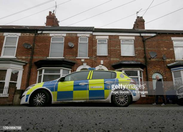 A police car in Raglan Street Hull after officers searching for 21yearold student Libby Squire who went missing from her home in the city since early...
