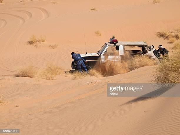 Police Car in Sand dune