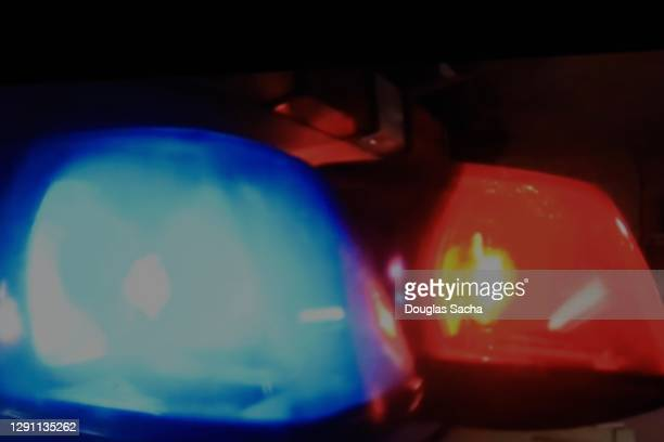 police car interceptor at crime scene - streaker stock pictures, royalty-free photos & images
