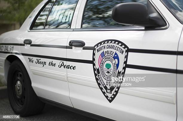 A police car is parked outside the North Charleston City Hall in North Charleston South Carolina on April 8 2015 Police officer Michael Slager who...