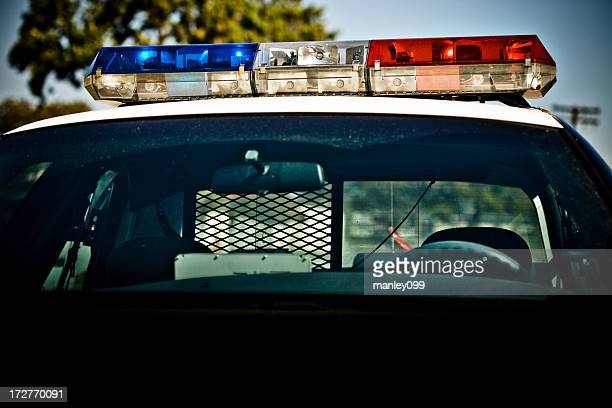police car lights - police lights stock pictures, royalty-free photos & images