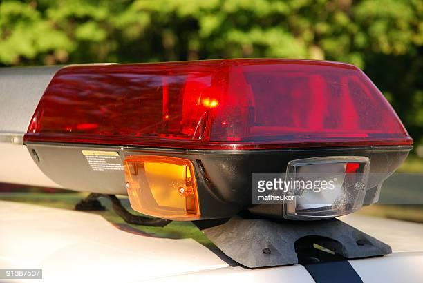 Luzes do Carro de Polícia