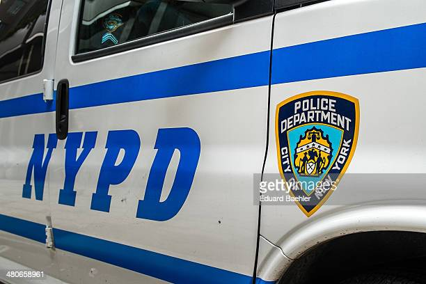 CONTENT] Police car of the NYPD closeup