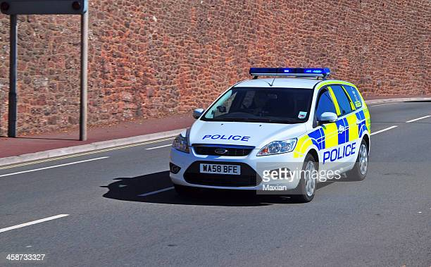 """police car on a """"shout"""" - police car stock photos and pictures"""