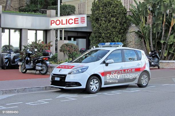 Police car on the street in Monte Carlo