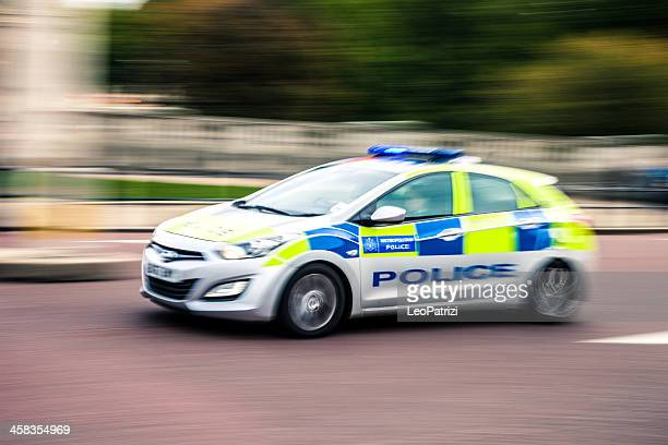 police car panning - police car stock photos and pictures