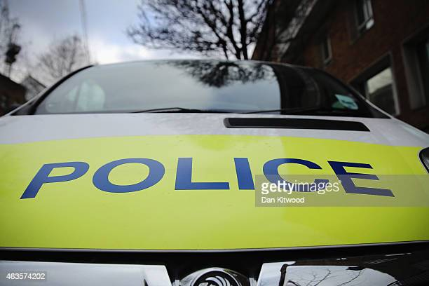 Police car parked outside Kennington Police Station on February 15 2015 in London England