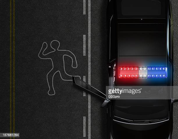 police car - police lights stock pictures, royalty-free photos & images