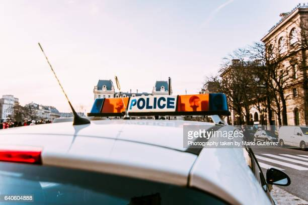 police car - france stock-fotos und bilder