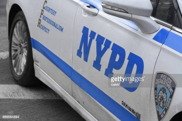 nypd police car - new york city police department stock pictures, royalty-free photos & images