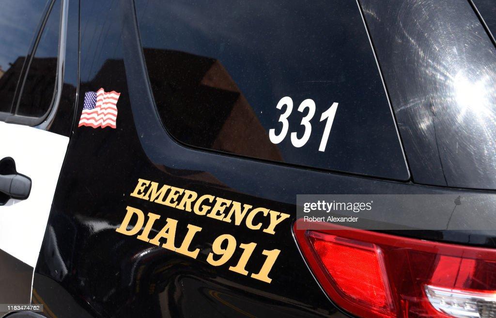 A police car in Santa Fe, New Mexico USA : News Photo