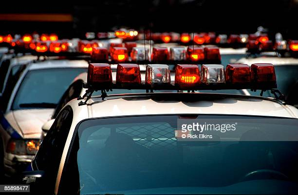 Police Cars with Lights