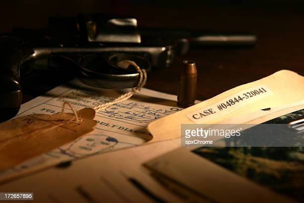 police case file - evidence stock pictures, royalty-free photos & images