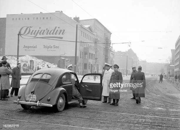 Police check East Berlin January 1954